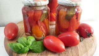 Pomidory w słoikach, na zimę po fińsku