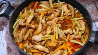Kurczak z fasolką szparagową